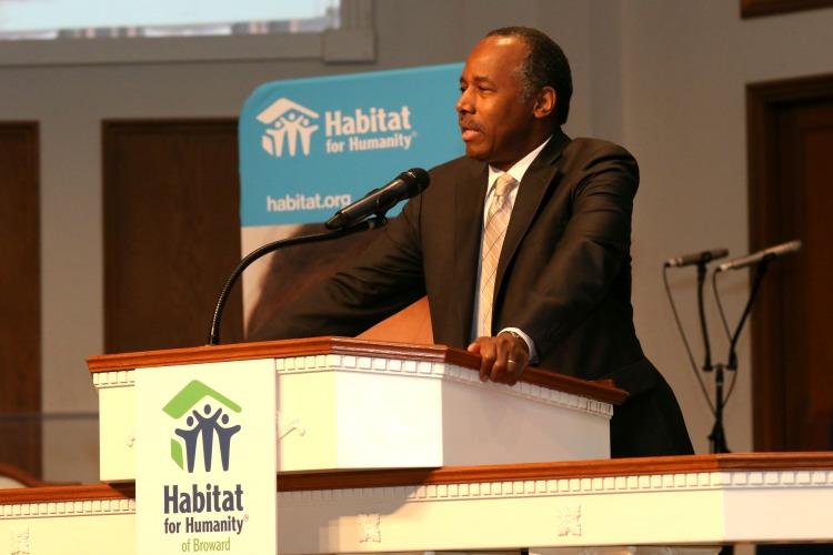 Ben Carson at Habitat event
