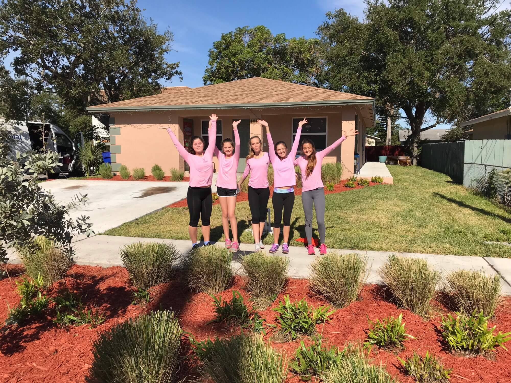Image: 5 members of Florida Girls Giving Back