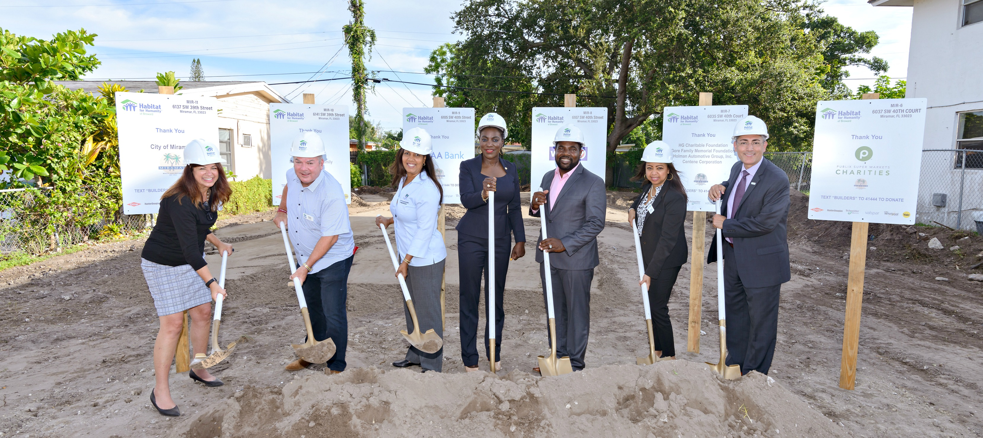 groundbreaking of Miramar, FL construction site